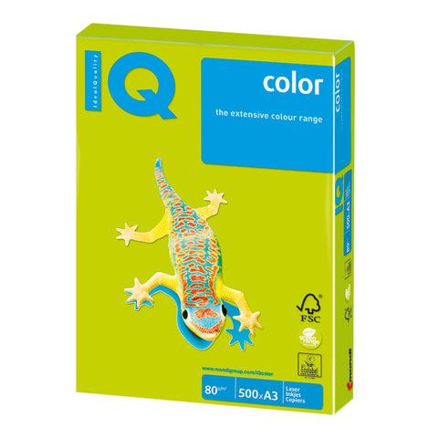 Бумага IQ color, А3, 80 г/м<sup>2</sup>, 500 л., неон зеленая NEOGN