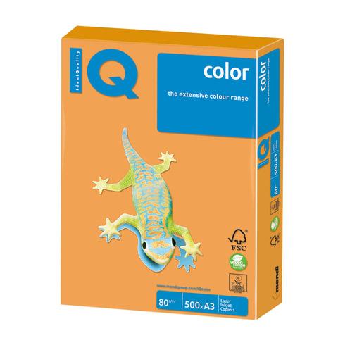 Бумага IQ color, А3, 80 г/м<sup>2</sup>, 500 л., неон оранжевая NEOOR