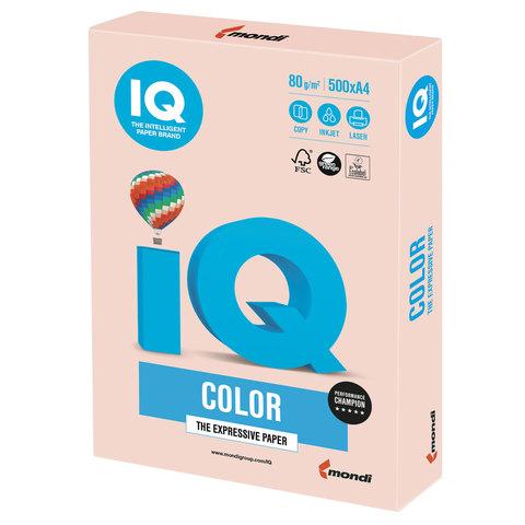 Бумага IQ color, А4, 80 г/м<sup>2</sup>, 500 л., пастель темно-кремовая SA24