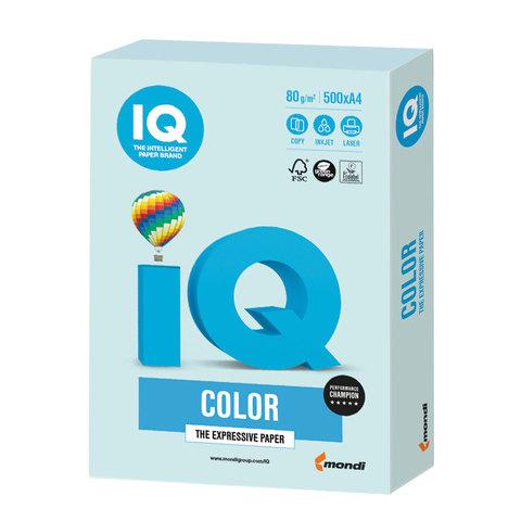 Бумага IQ color, А4, 80 г/м<sup>2</sup>, 500 л., пастель светло-голубая BL29