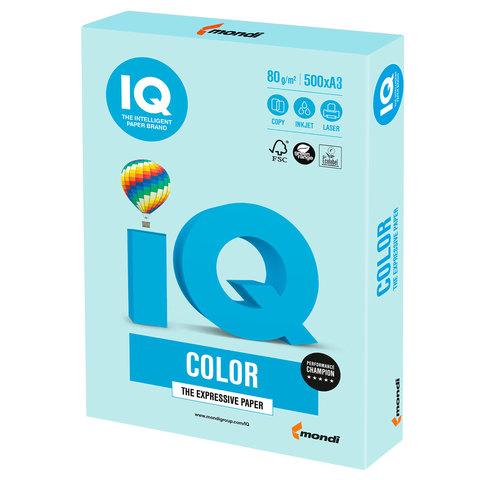 Бумага IQ color, А3, 80 г/м<sup>2</sup>, 500 л., пастель светло-голубая BL29