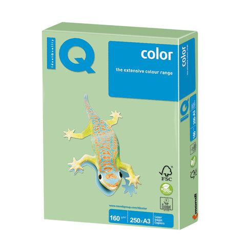 Бумага IQ color, А3, 160 г/м<sup>2</sup>, 250 л., пастель зеленая MG28