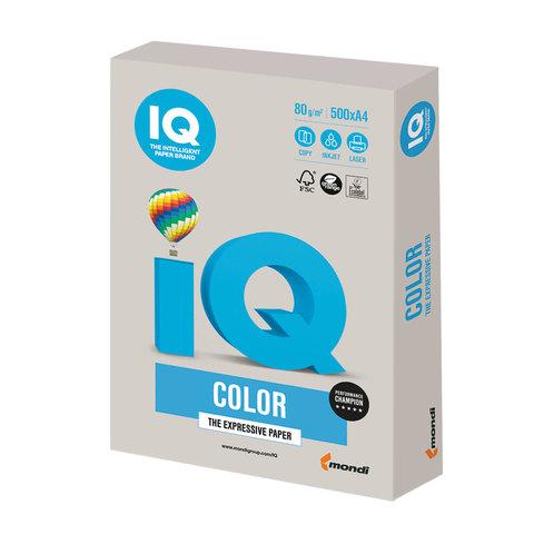 Бумага IQ color, А4, 80 г/м<sup>2</sup>, 500 л., умеренно-интенсив (тренд) серая GR21