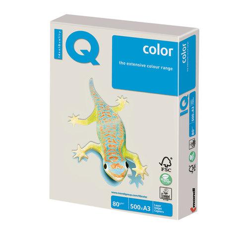 Бумага IQ color, А3, 80 г/м<sup>2</sup>, 500 л., умеренно-интенсив (тренд) серая GR21