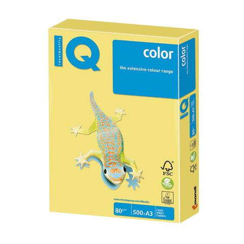Бумага IQ color, А3, 80 г/м<sup>2</sup>, 500 л., умеренно-интенсив (тренд) лимонно-желтая ZG34