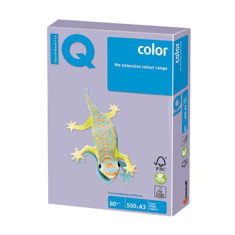 Бумага IQ color, А3, 80 г/м<sup>2</sup>, 500 л., умеренно-интенсив (тренд) бледно-лиловая LA12
