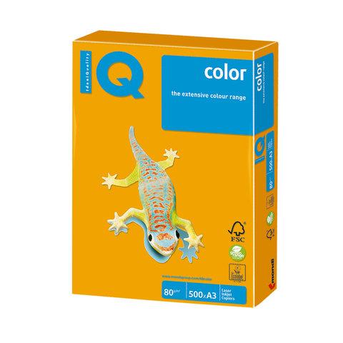 Бумага IQ color, А3, 80 г/м<sup>2</sup>, 500 л., умеренно-интенсив (тренд) старое золото AG10