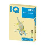 Бумага IQ (АйКью) color, А4, 80 г/м, 100 л., пастель желтая, YE23