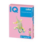 Бумага IQ (АйКью) color, А4, 80 г/м<sup>2</sup>, 100 л., пастель розовая, PI25
