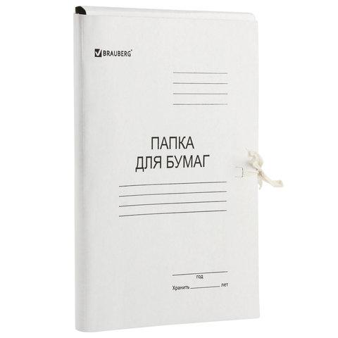 Папка для бумаг с завязками картонная BRAUBERG, 440 г/м<sup>2</sup>, до 200 листов, 110926