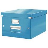 """Короб архивный LEITZ """"Click & Store"""" M, 200х280х370 мм, ламинированный картон, разборный, синий, 60440036"""