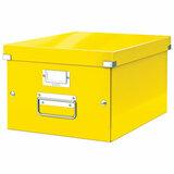 "Короб архивный LEITZ ""Click & Store"" M, 200х280х370 мм, ламинированный картон, разборный, желтый, 60440016"