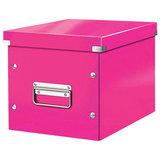 """Короб архивный LEITZ """"Click & Store"""" L, 310х320х360 мм, ламинированный картон, разборный, розовый, 61080023"""