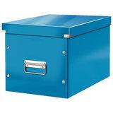 """Короб архивный LEITZ """"Click & Store"""" L, 310х320х360 мм, ламинированный картон, разборный, синий, 61080036"""
