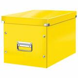"""Короб архивный LEITZ """"Click & Store"""" L, 310х320х360 мм, ламинированный картон, разборный, желтый, 61080016"""