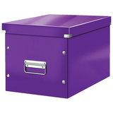 """Короб архивный LEITZ """"Click & Store"""" L, 310х320х360 мм, ламинированный картон, разборный, фиолетовый, 61080062"""