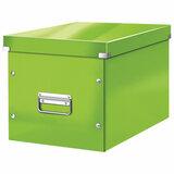 """Короб архивный LEITZ """"Click & Store"""" L, 310х320х360 мм, ламинированный картон, разборный, зеленый, 61080054"""