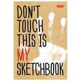 "Скетчбук блокнот для эскизов, А5, 100 г/м<sup>2</sup>, 80 л., книжный твердый переплет, ""Don't Touch"", 80ББ5A_17179"