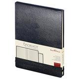 Блокнот А5 (144х212 мм), 100 л., твердая обложка, балакрон, открытие вверх, BRUNO VISCONTI, Черный, 3-103/02