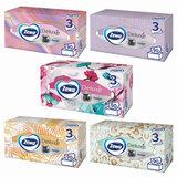 Салфетки косметические 3-слойные ZEWA Delux Design, 90 шт., в картонном боксе, 28420