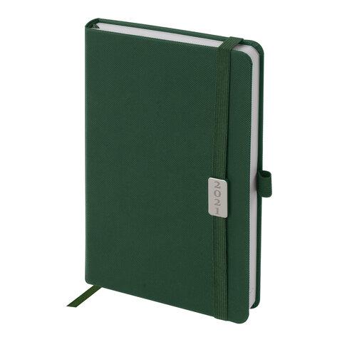 """Ежедневник датированный 2021 А5 (138х213 мм) BRAUBERG """"Control"""", кожзам, держатель для ручки, зеленый, 111474"""