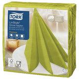 Салфетки бумажные нетканые сервировочные TORK LinStyle Premium, 39х39 см, 50 шт., фисташковые, 478876
