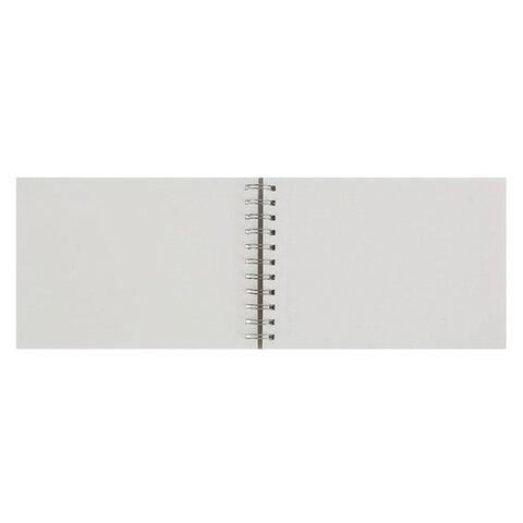 Альбом для акварели А5, 20 л., 200 г/м2, ЭКСТРА белая, мелкое зерно, спираль,