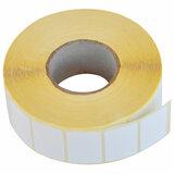 Этикетка термотрансферная ПОЛУГЛЯНЕЦ (30х20 мм), 2000 этикеток в ролике, 52198