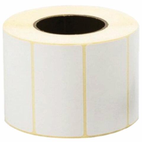 Этикетка термотрансферная ПОЛУГЛЯНЕЦ (58х30 мм), 900 этикеток в ролике, 52200