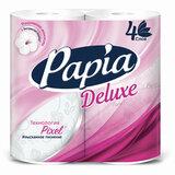 Бумага туалетная быт., спайка 4 шт., 4-слойная (4х16 м), PAPIA DELUXE, белая, 5062185