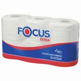 Бумага туалетная, спайка 6 шт., 2-слойная (6х48 м) Focus Extra, белая, 5042265