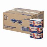 Полотенца бумажные 200 шт. FOCUS (Система H2) Extra, 2-слойные, белые, КОМПЛЕКТ 12 пачек, 24х20, Z-сложение, 5041537