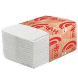 Бумага туалетная Focus (Система T3) Premium, 2-слойная, КОМПЛЕКТ 30 пачек, листовая, 250 листов, V-сложение, 5049979