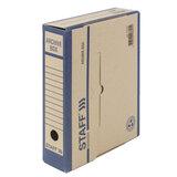Короб архивный с клапаном А4 260х325 мм, 75 мм, переплетный картон, до 750 л., STAFF, 112159