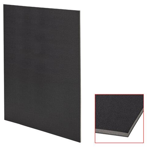 Пенокартон матовый, 70х100 см, толщина 5 мм, черный, КОМПЛЕКТ 5 листов, BRAUBERG, 112477
