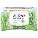 """Салфетки влажные антибактериальные 60 шт., AURA Antibacterial """"ECO Protect"""", клапан крышка, 10509"""