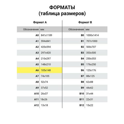 Блокнот МАЛЫЙ ФОРМАТ (105х145 мм) А6, 24 л., скоба, мелованная бумага, HATBER,