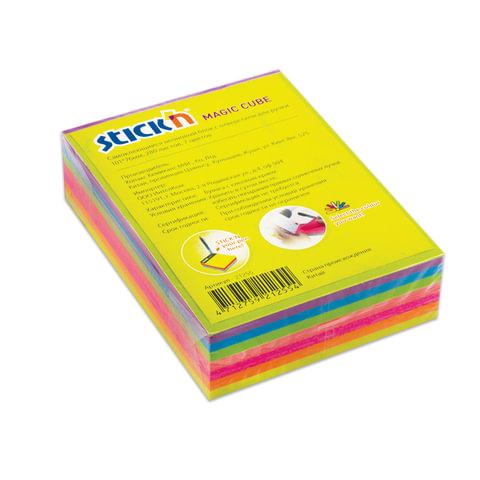 Блок самоклеящийся HOPAX с отверстием для ручки, 76х101 мм, 280 л., 7 цветов, неон, 21255