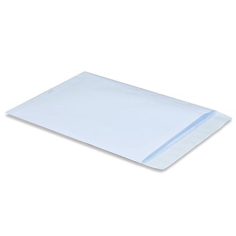 Конверт-пакет В4 плоский, 250х353 мм, белый, с отрывной полосой, на 140 листов, 160120