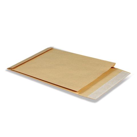 Конверт-пакет С4 объемный, 229х324х40 мм, из крафт-бумаги, с отрывной полосой, на 250 листов, 381227