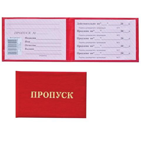 """Бланк документа """"Пропуск"""", твердая обложка, 65х98 мм, 121807"""