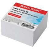 Блок для записей BRAUBERG, непроклеенный, куб 9х9х5 см, белый, белизна 95-98%, 122338
