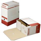 Короб архивный с клапаном, микрогофрокартон, 150 мм, до 1400 листов, плотный, белый, ОФИСНАЯ ПЛАНЕТА, 122746