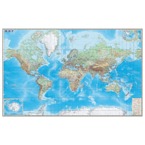 Карта настенная
