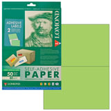 Этикетка самоклеящаяся LOMOND на листе формата А4, 2 этикетки, размер 210х148,5 мм, зеленая, 50 л., 2120225