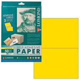 Этикетка самоклеящаяся LOMOND на листе формата А4, 2 этикетки, размер 210х148,5 мм, лимонно-желтая, 50 л., 2130225