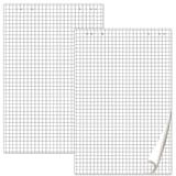 Блокноты для флипчарта BRAUBERG, КОМПЛЕКТ 5 штук, 20 листов, клетка, 67,5х98 см, 80 г/м<sup>2</sup>, 124097