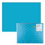 Бумага (картон) CANSON &quot;Iris Vivaldi&quot;, А2+, 500х650 мм, 240 г/м<sup>2</sup>, 2-сторонняя, бирюзовая, 25