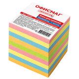 Блок для записей ОФИСМАГ непроклеенный, куб 9х9х9 см, цветной, 124444