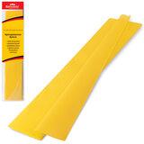Цветная бумага крепированная BRAUBERG, стандарт, растяжение до 65%, 25 г/м<sup>2</sup>, европодвес, желтая, 50х200 см, 124728
